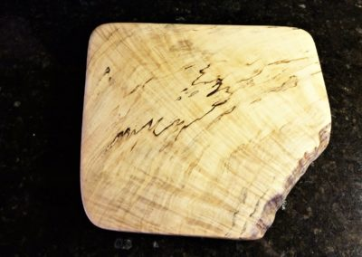 Highly-figured spalted maple board