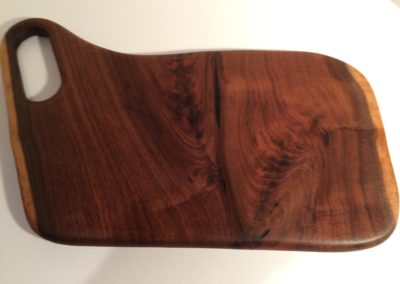 Walnut double live edge serving platter