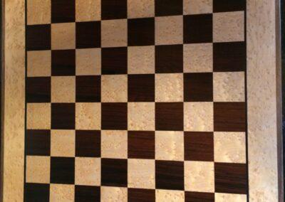 Exotic veneer game board - chess