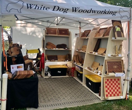 White Dog Woodworking 2021 Juried Craft Fair Booth