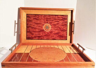 Exotic veneer trays